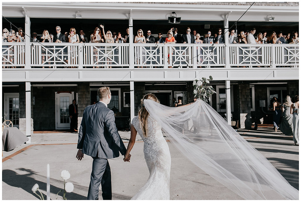 Bride and Groom Intros at Little Egg Harbor Yacht Club, Beach Haven NJ