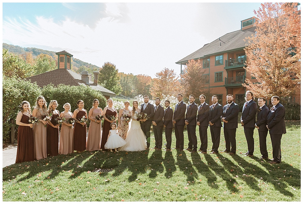 Outdoor Wedding Party Portraits
