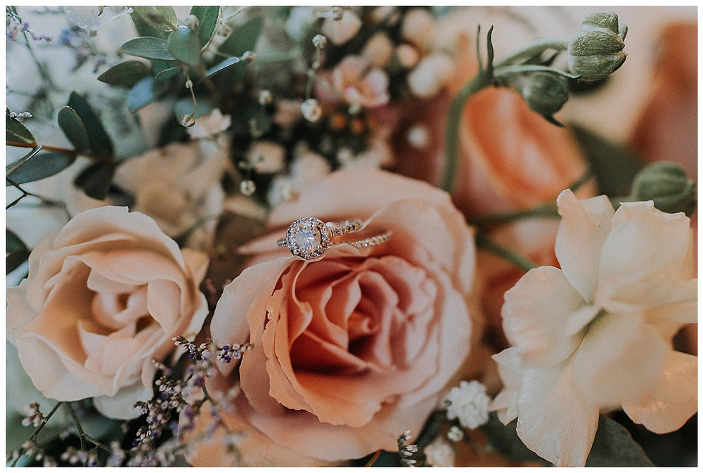 Bridal Bouquet and Ring Details