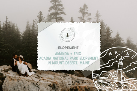 Acadia National Park Adventure Elopement in Mount Desert, Maine
