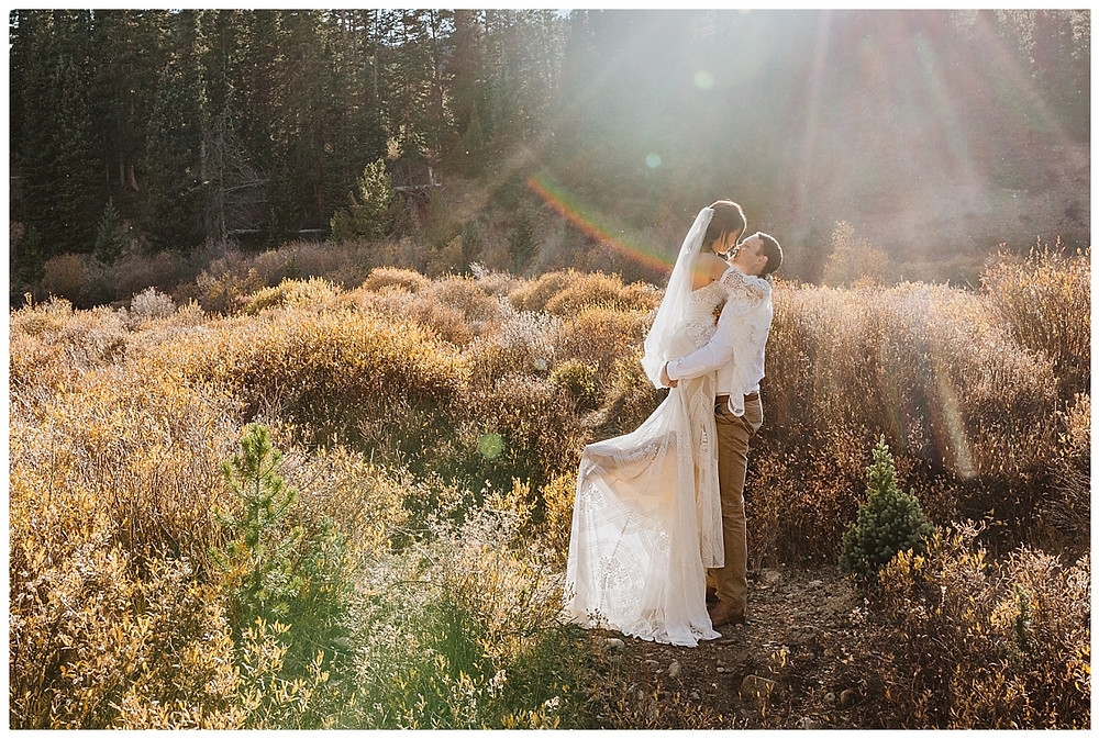 Rocky Mountain Elopement Bride & Groom Portraits