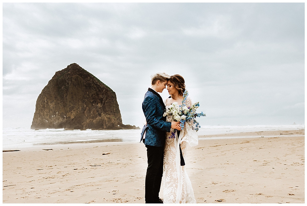Haystack Rock Elopement at Cannon Beach, Oregon
