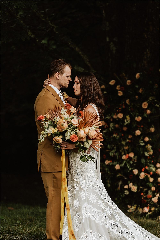 Boho Bride & Groom Portraits, Couples Elopement Photos