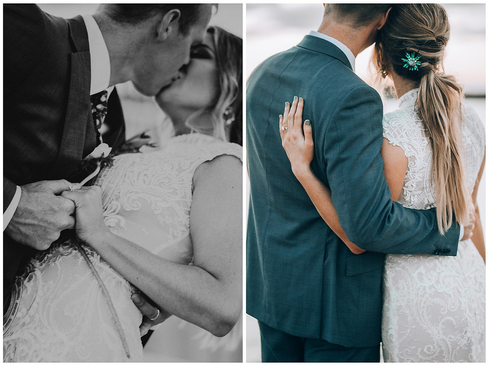 Bride and Groom Portraits in Beach Haven, NJ