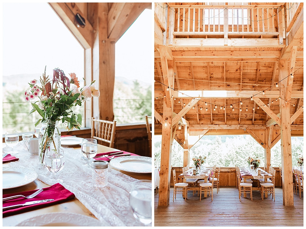 Satoyama Farm Wedding Barn Interior in Rochester, VT