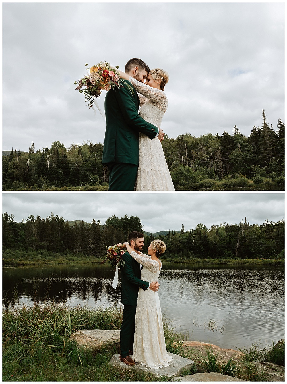 Vermont Mountain Bride & Groom Portraits