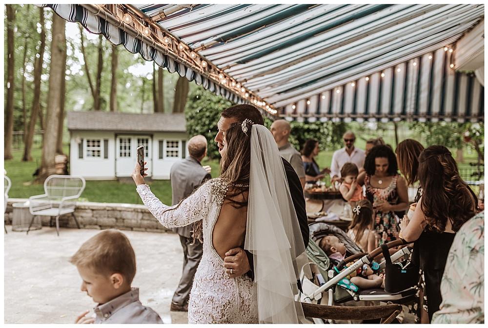 Tented Backyard Wedding Reception, Sara Fitz Co