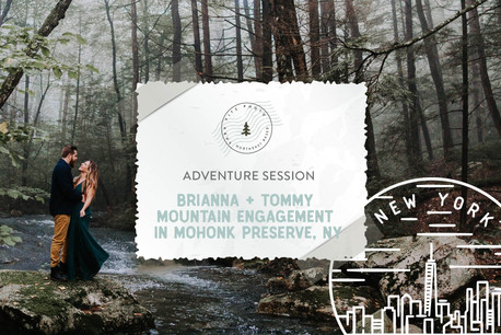 Misty Mountain Adventure Engagement in Mohonk Preserve, NY