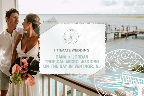 Tropical Inspired Micro Wedding on the Bay in Ventnor, New Jersey