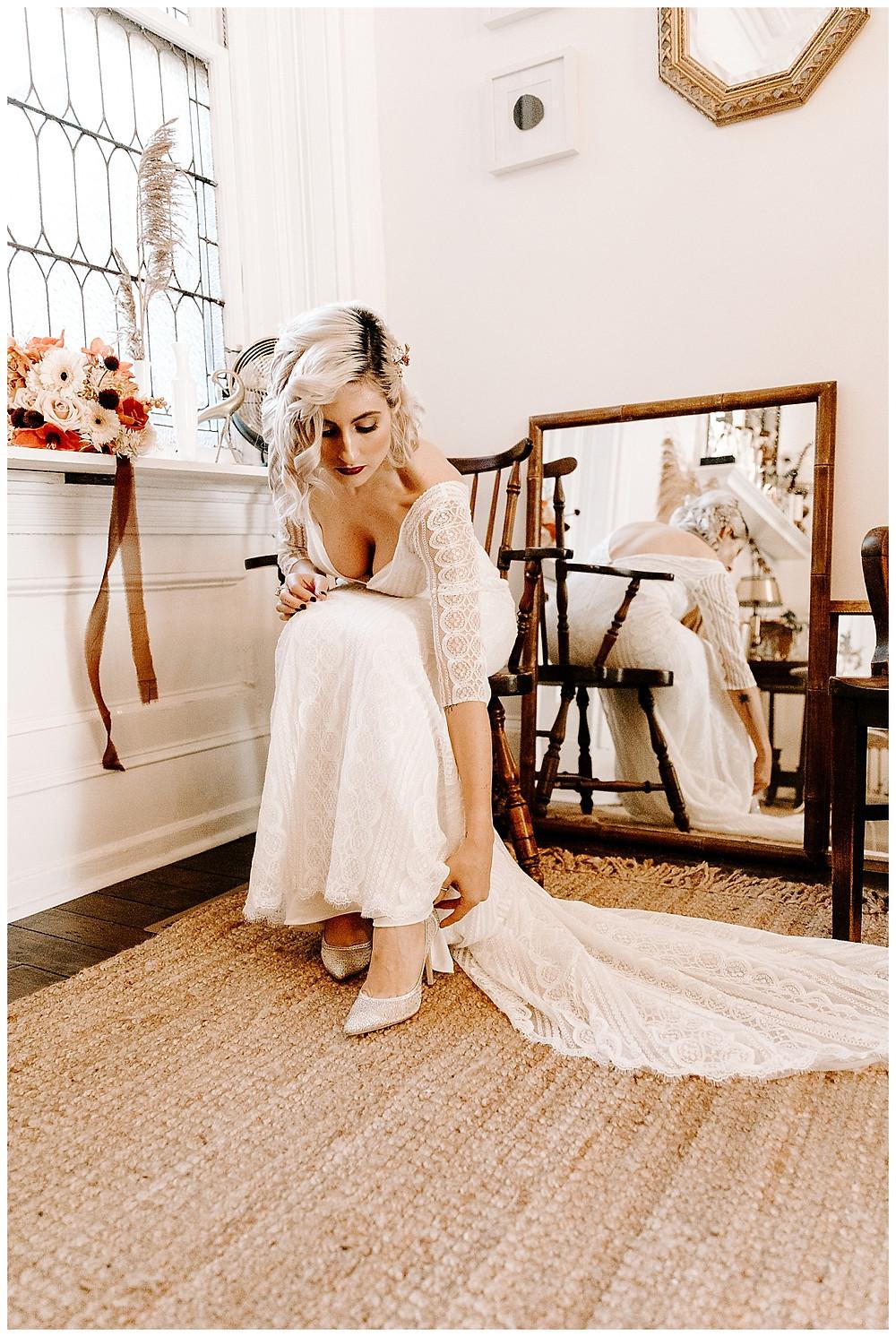 Vintage Eclectic Bridal Portraits