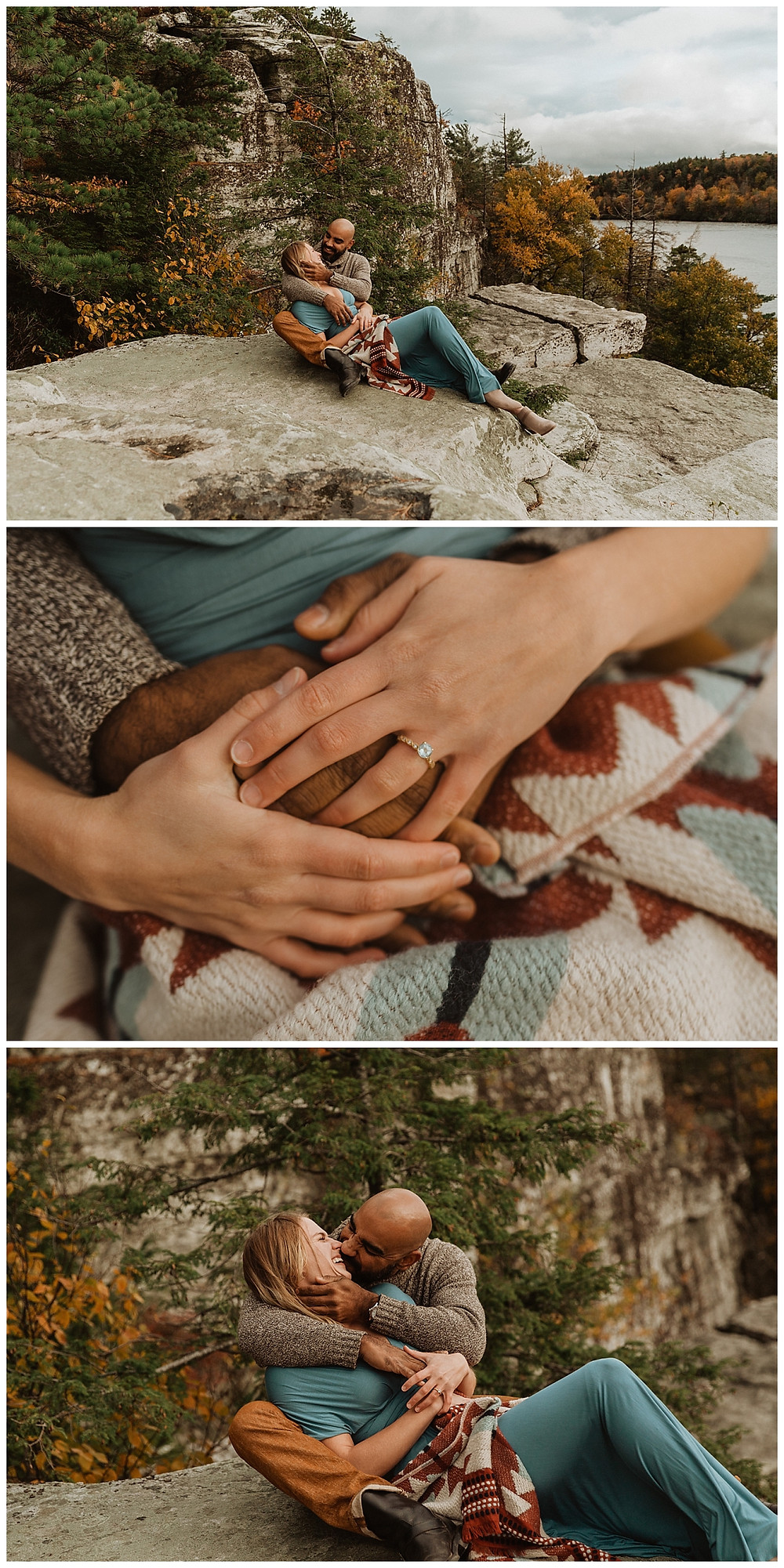 Autumn Mountain Engagement Session in Minnewaska NY