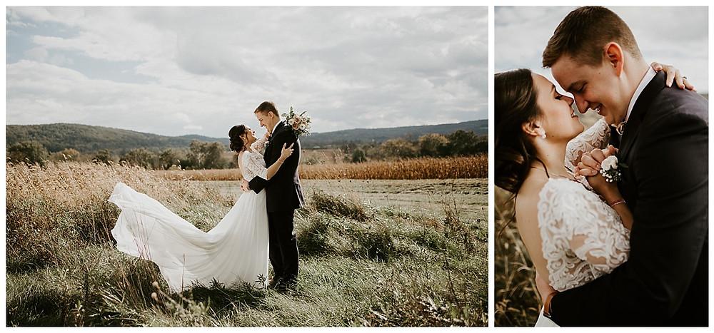 Farm Meadow Bride & Groom Portraits