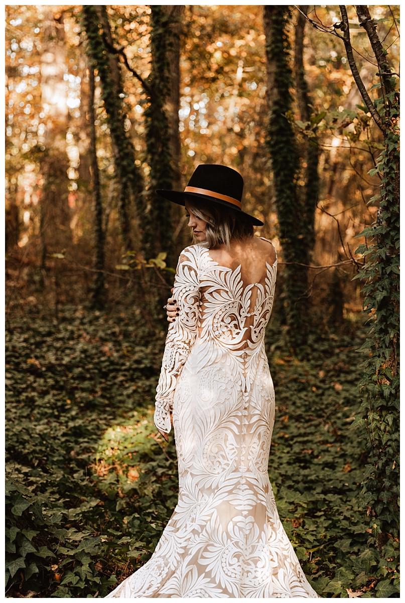 Boho Autumn Bridal Portraits, Rue De Seine Wedding Dress