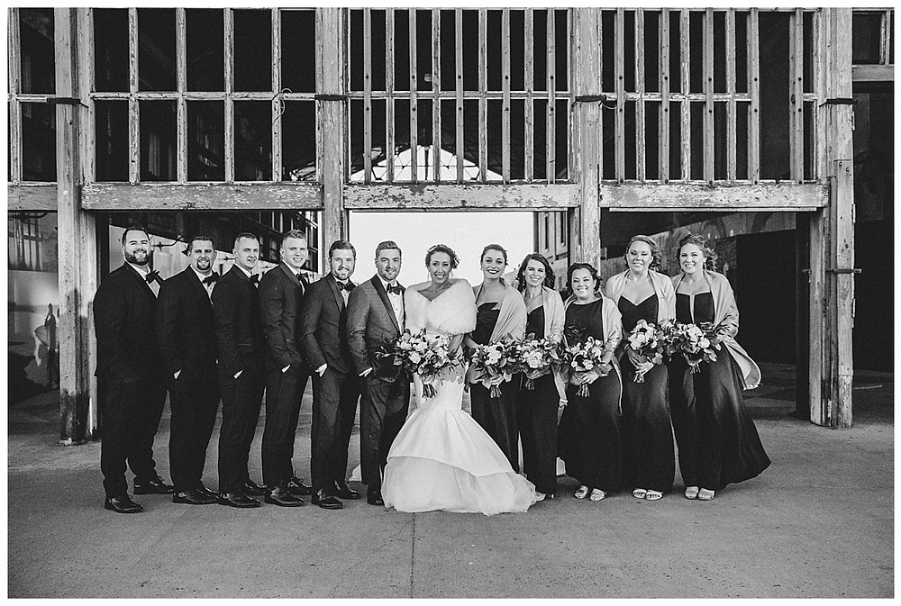 Wedding Party Photos at the abandoned Asbury Casino