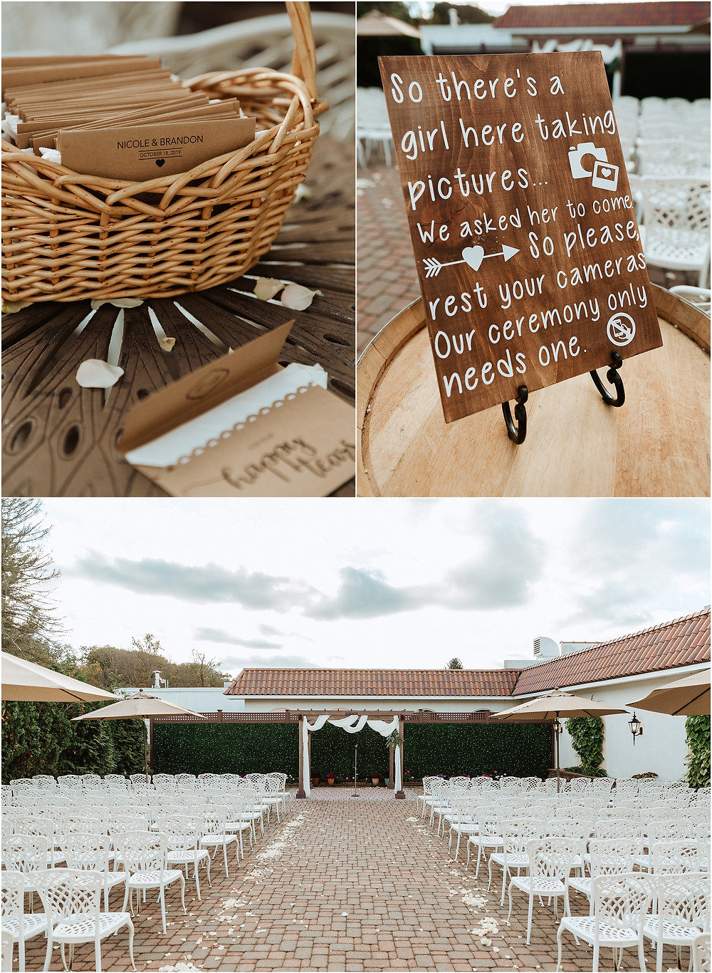 Ceremony Details at The Reserve, Perona Farms Wedding