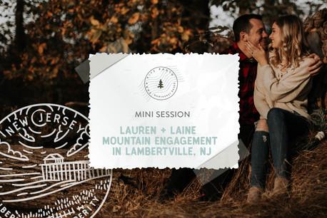 Autumn Mountain Mini Engagement Session on Goat Hill Overlook, NJ