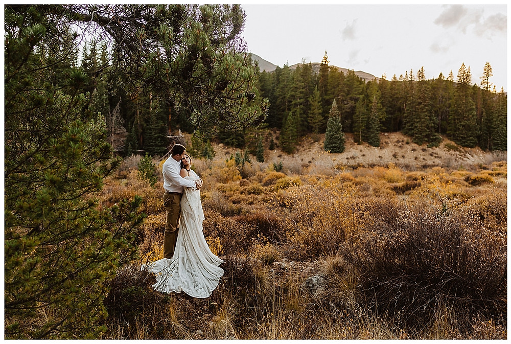 Rocky Mountain Colorado Elopement Bride & Groom Portraits
