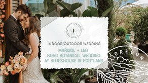 Boho Botanical Greenhouse Wedding Dinner at Blockhouse in Portland, Oregon
