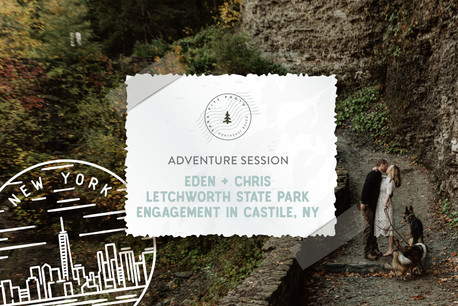 Autumn Cliffside Adventure Engagement at Letchworth State Park in Castile, NY
