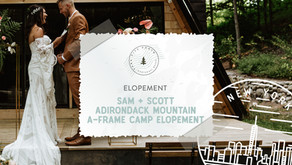 Adirondack Mountain A-Frame Camp Elopement in NY