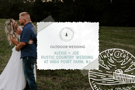Rustic Country Wedding at High Point Farm in Atlantic Highlands, NJ