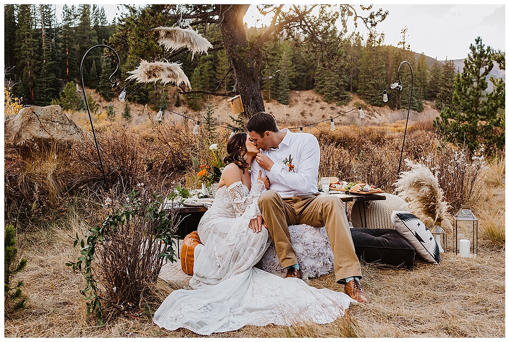 Rocky Mountain Elopement Dinner
