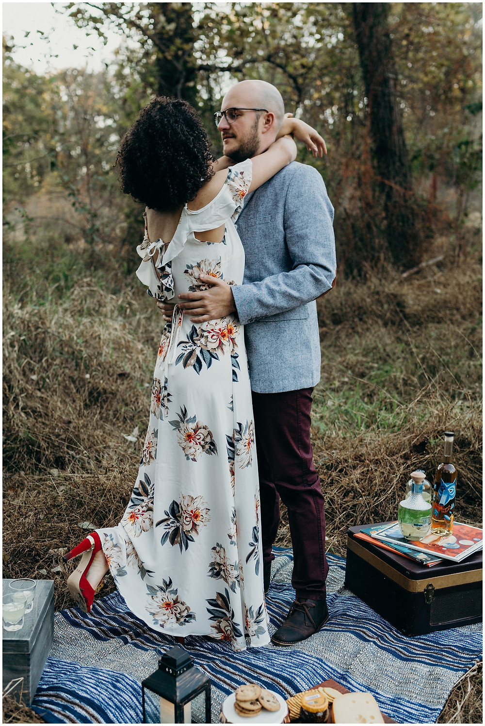 Artsy Mountain Picnic Engagement Session