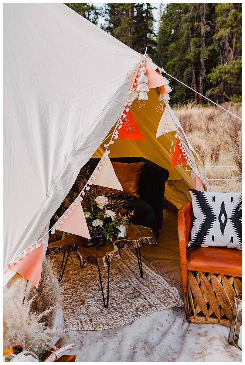 Boho Tent Glamping Elopement