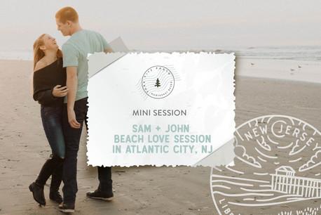 Winter Beach Mini Love Session in Atlantic City, NJ
