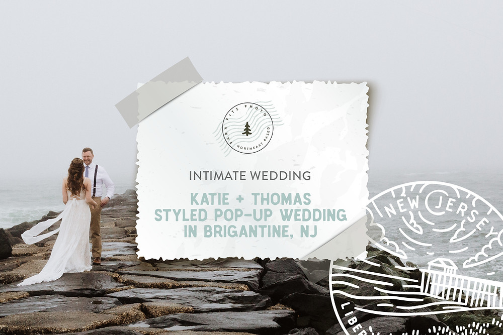 Styled Beach-side Outdoor Pop-Up Wedding in Brigantine, NJ