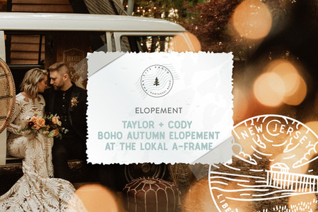 Woodsy Boho Autumn Elopement at the Lokal A-Frame Cabin in Dorchester, NJ