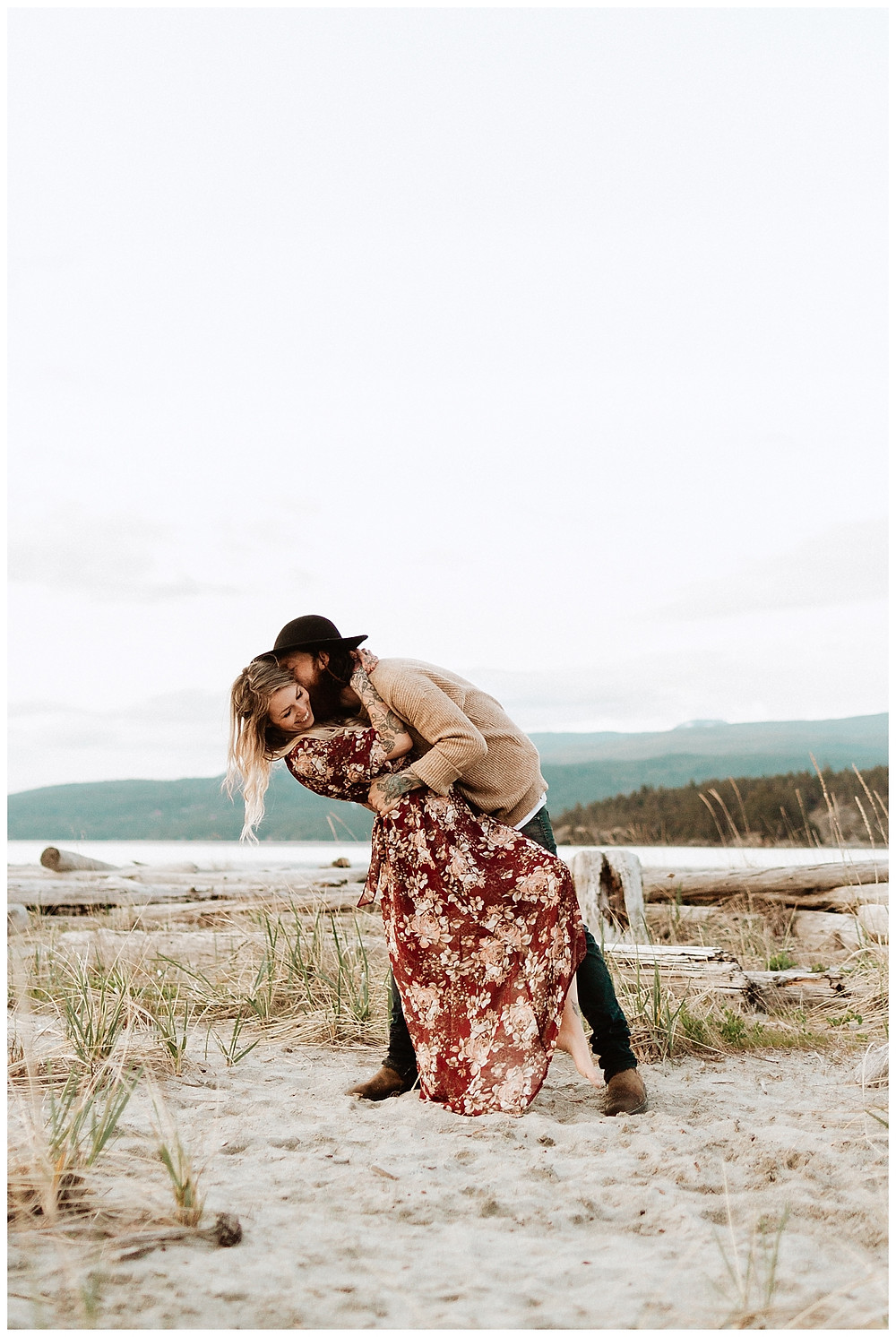 Beach Engagement Photos in British Columbia