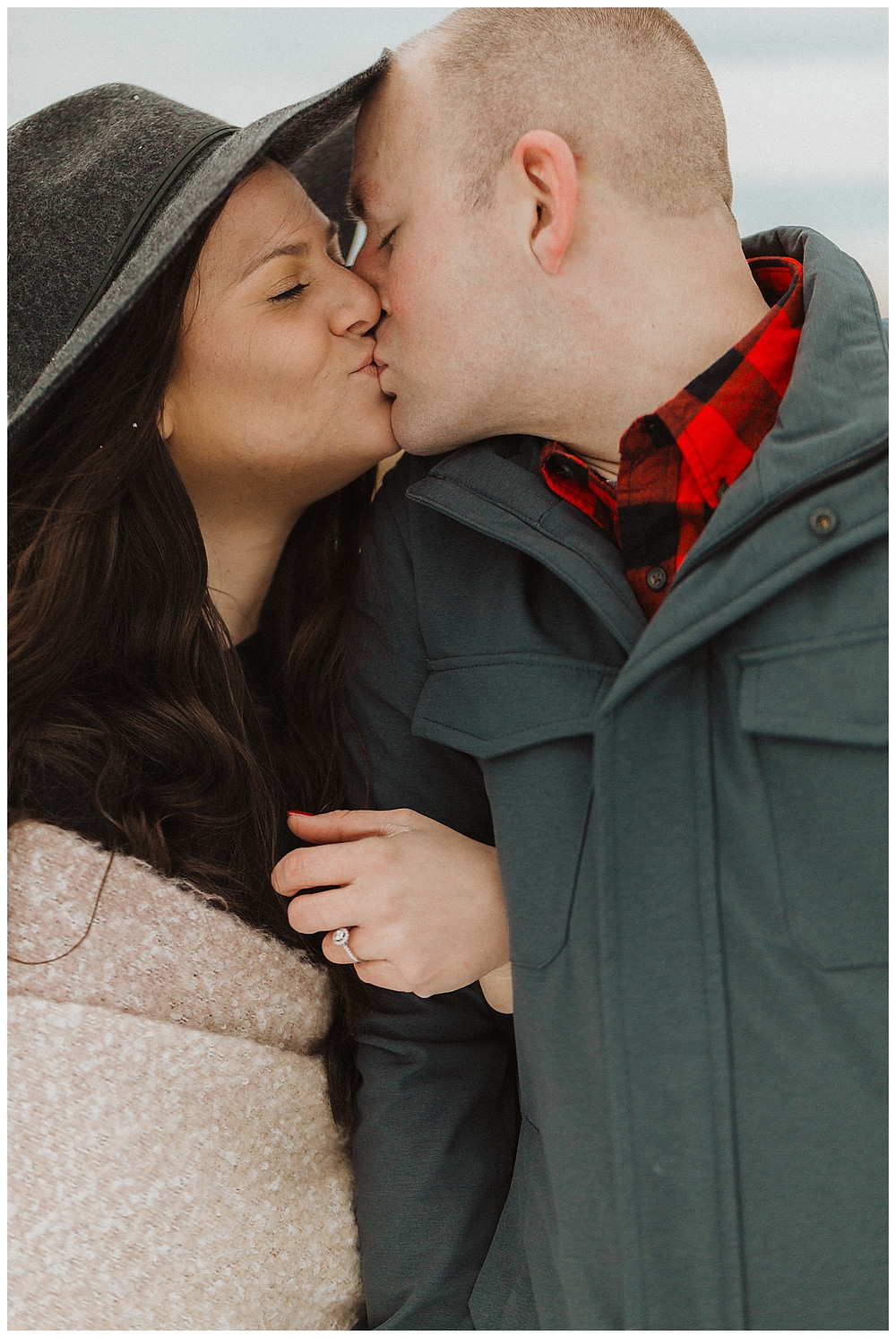 Winter Engagement Session in the Snow PA