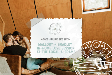 In-Home Love Session at the Lokal A-Frame Cabin on Maurice River, Dorchester NJ