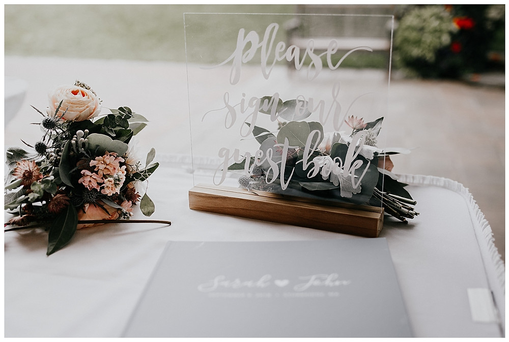 Glass Guest Book Sign