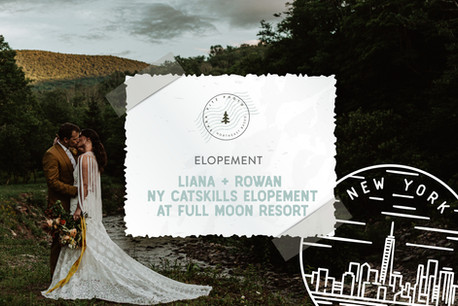 NY Catskills Adventure Elopement at Full Moon Resort in Big Indian, New York