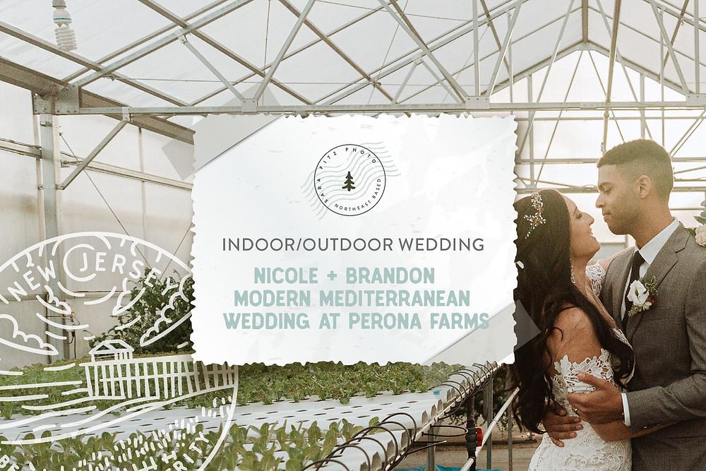 Modern Mediterranean Wedding at Perona Farms in NJ