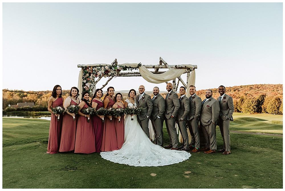 Mountaintop Wedding Party Photos