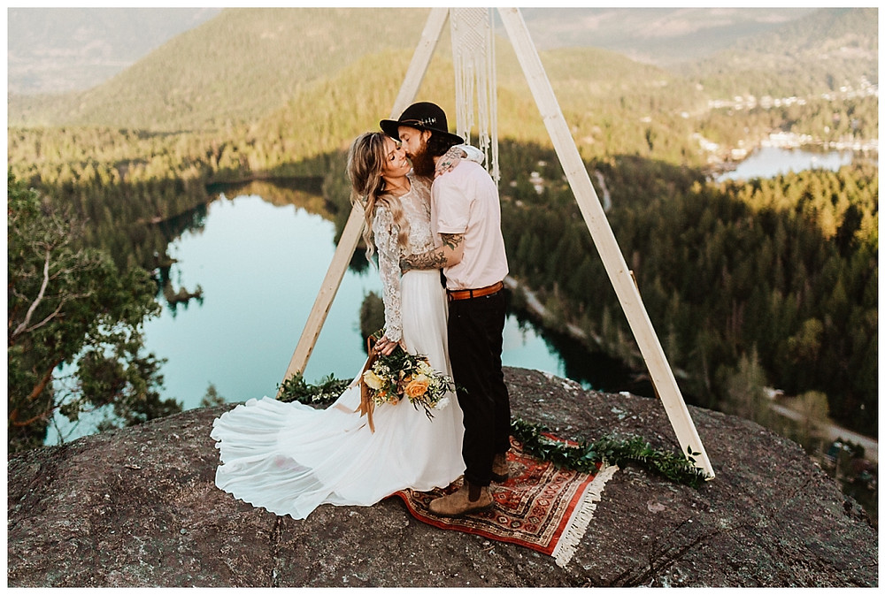 Boho Canadian Mountain Adventure Elopement in British Columbia