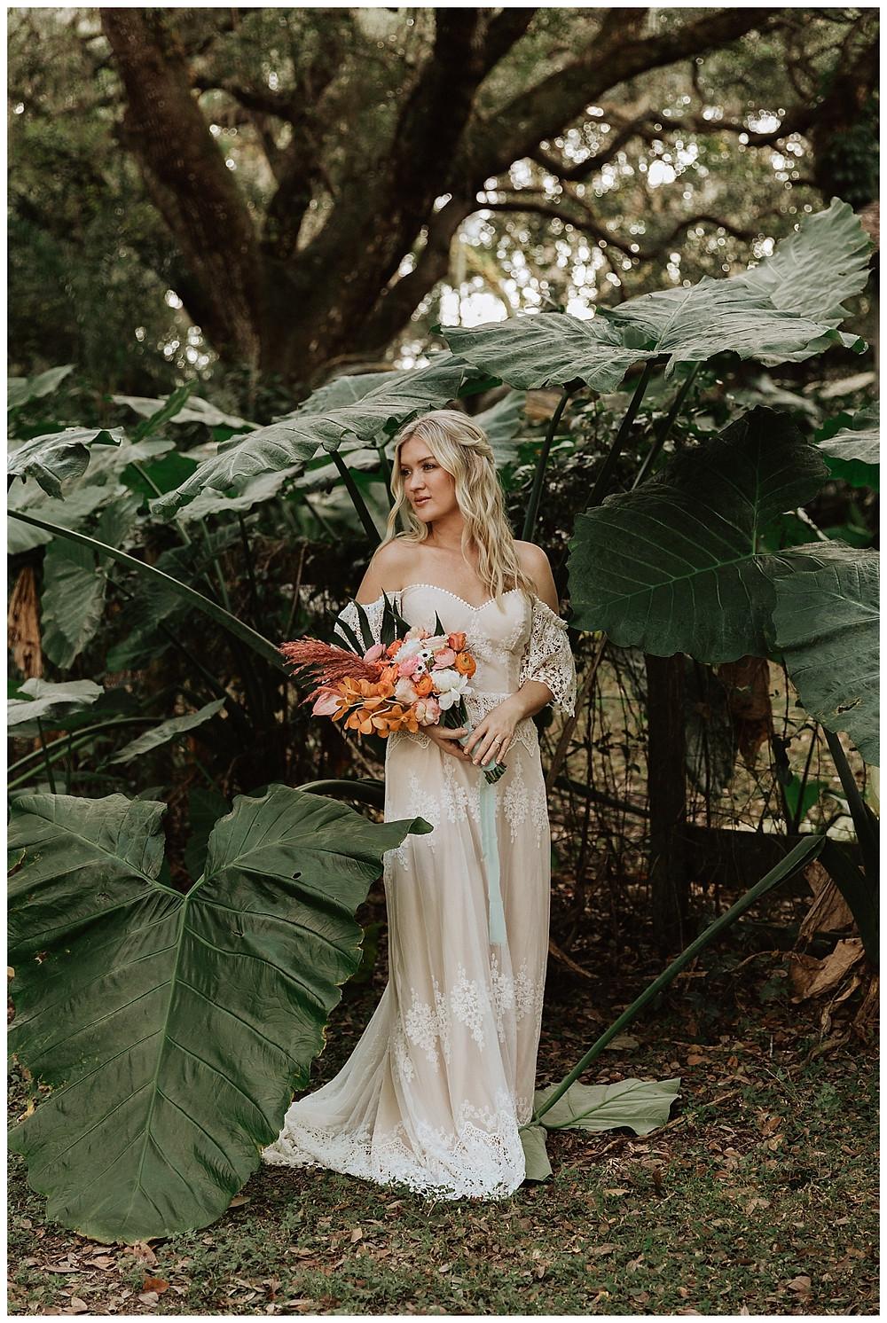 Tropical Bride & Groom Portraits in Ocala Florida