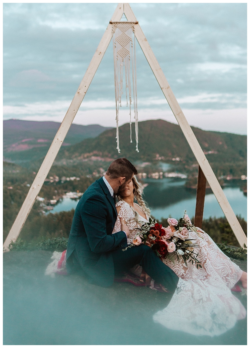 Sunshine Coast Mountaintop Adventure Elopement in Halfmoon Bay, BC