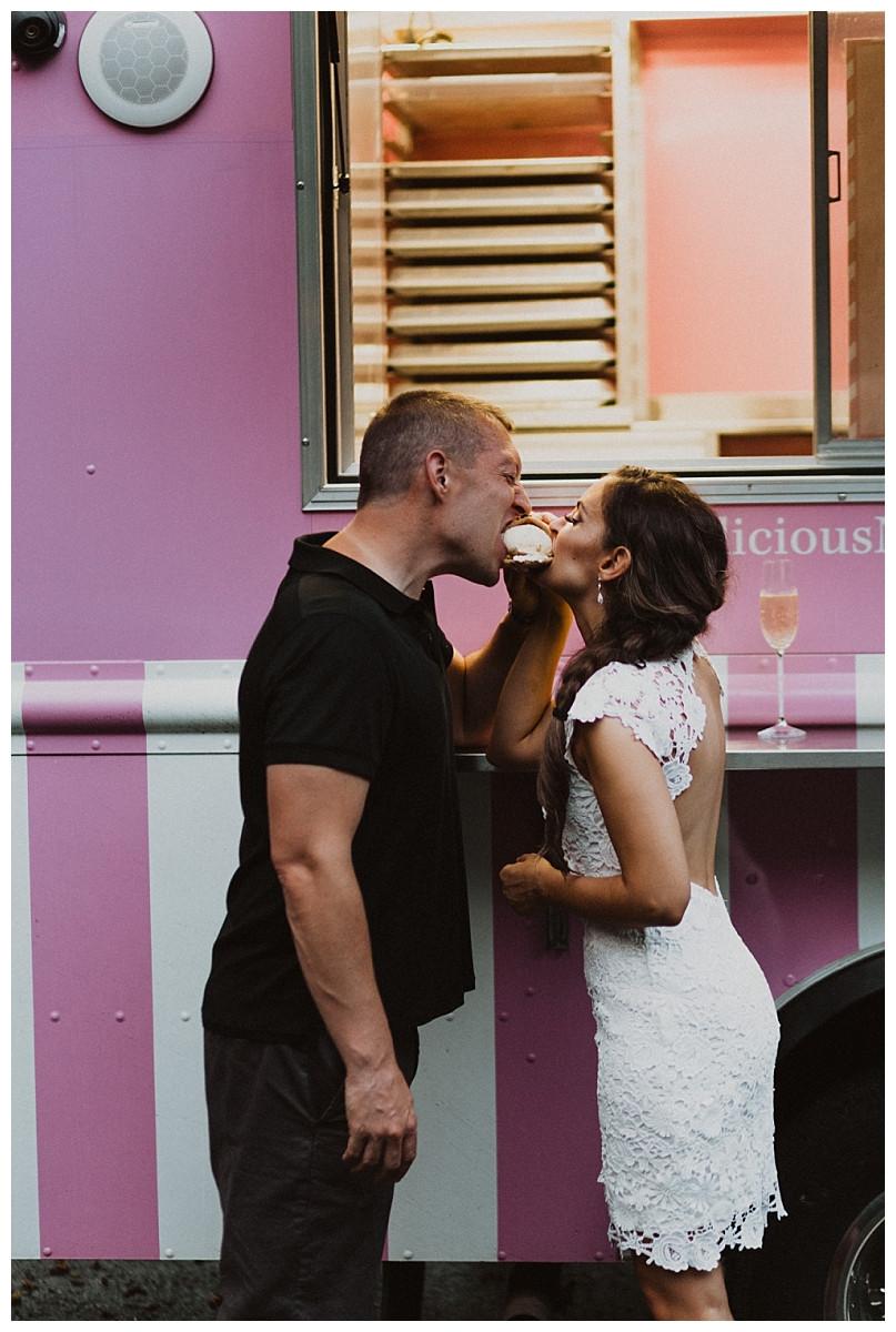 Bride & Groom Photos at Ice Cream Truck, Sara Fitz Co