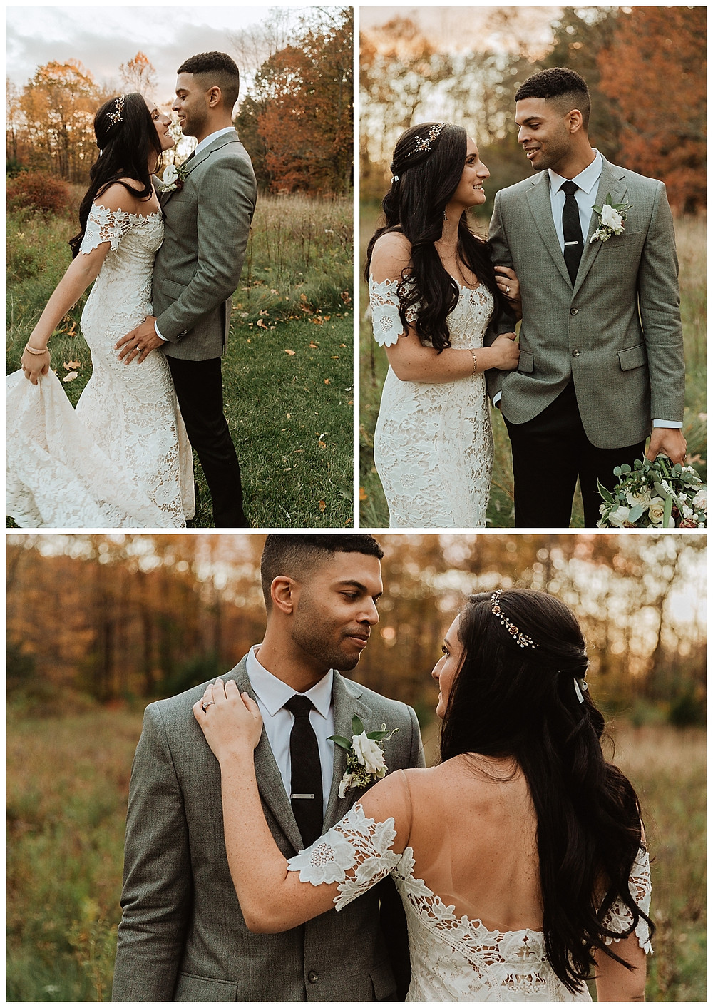 Outdoor Wooded Bride & Groom Portraits