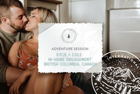 Intimate In-Home & Rocky Beach Adventure Engagement in British Columbia, Canada