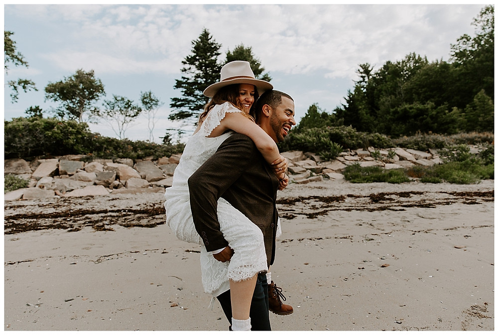 Adventure Elopement Photography at Otter Cove, Acadia National Park, Maine