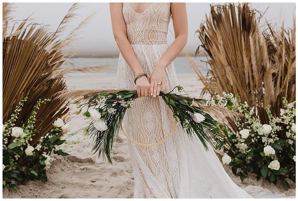 Boho Beach Bridal Portraits