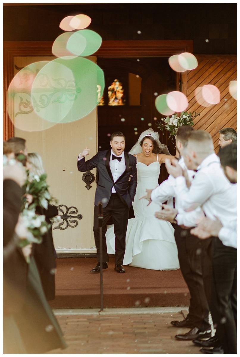 Bride & Groom Bubble Exit