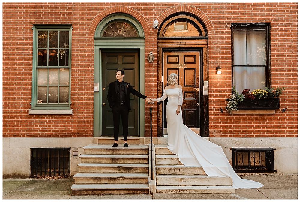 Urban City Bride and Groom Portraits