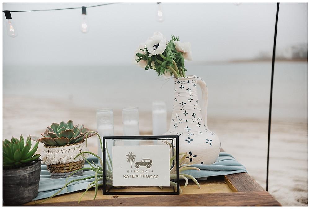 Beach Wedding Reception Details