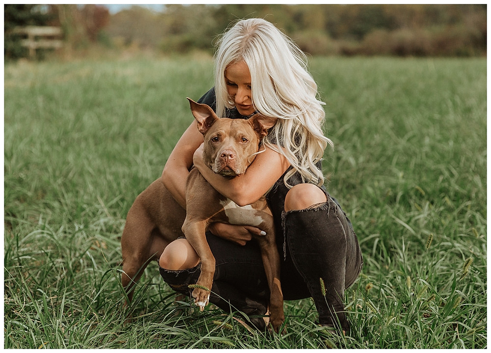 Pit bull and His Momma